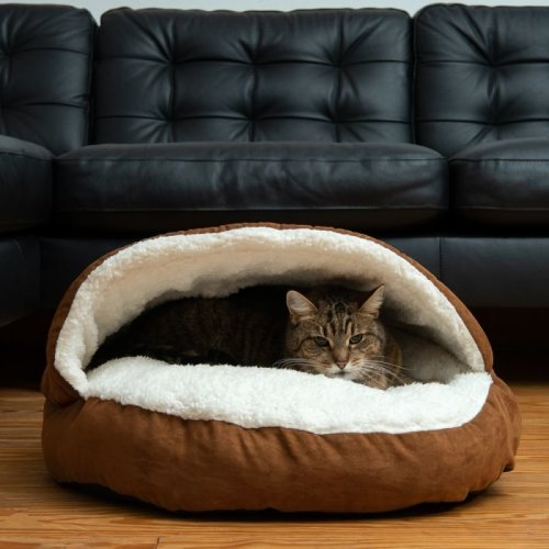 Cat Bed Hamburger Style Cave House Hideaway Snuggle
