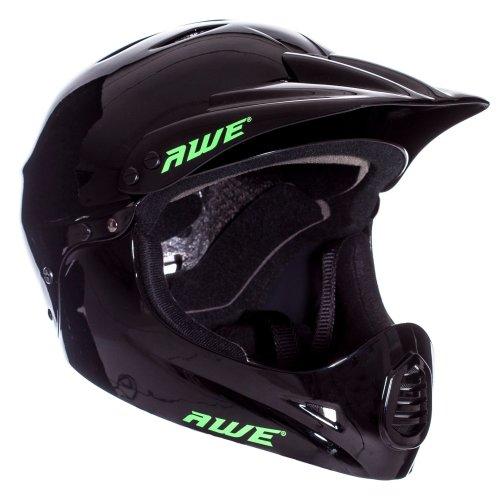 AWE® BMX Full Face Helmet Black Large 58-62cm