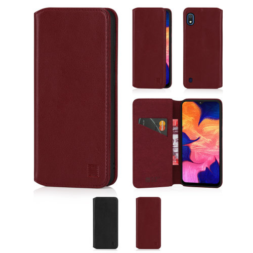 32nd  Classic Series 2.0 -  Real Leather Book Wallet Flip Case Cover For Samsung Galaxy A10 (2019), With Magnetic Closure and Stand