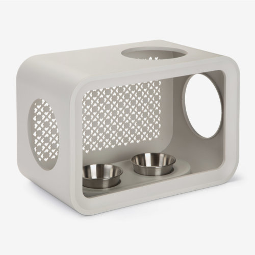 Beeztees Cat Cube Dinner Dune Grey 49cm