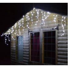CHRISTMAS XMAS LED LIGHTS SNOWING ICICLE / STRING / TREE / NET - WHITE OR BLUE[320 Led White Icicle Lights]