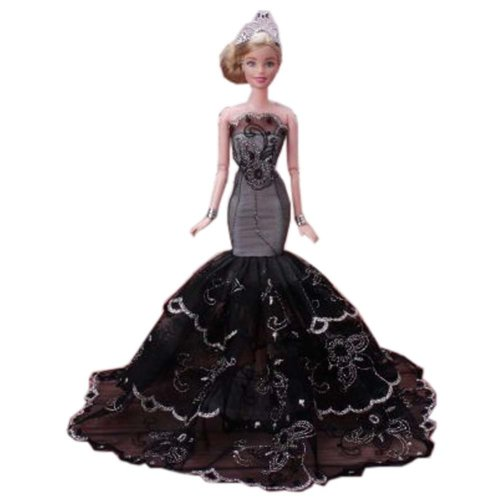 Beautiful Princess Wedding Costume Party Evening Dress Dolls Dress-up Costume Gift Idea, A