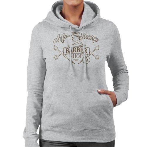 My T Sharp Barber Shop Queens Coming To America Women's Hooded Sweatshirt