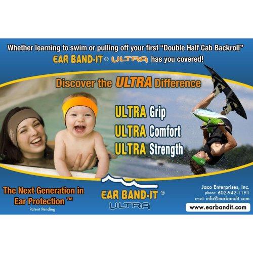 Ear Bandit Ultra swimmers headband (Hot Pink, Medium)