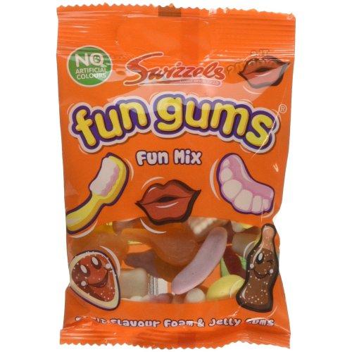 Swizzels Matlow Mega Fun Gum Bag Fun Mix(pack of 24)