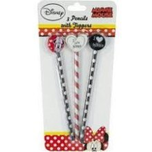 DISNEY MINNIE MOUSE | Pencils with Toppers (Pack of 3)