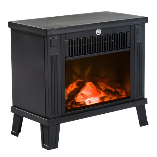 HOMCOM 1.2KW Freestanding Electric Fireplace Fire Wood Log Burning Effect Flame Heater Stove