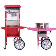 KuKoo 8oz Popcorn Machine & Candy Floss Machine with Carts