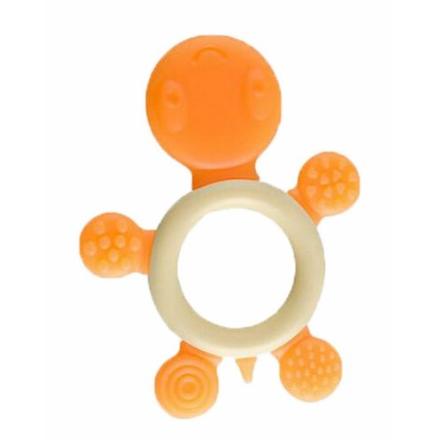 Baby Teether, Safety Baby Teeth Stick For 3-12 months Orange Tortoise