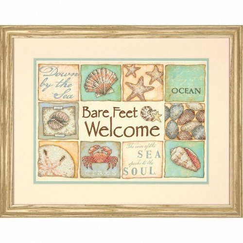 D70-03245 - Dimensions Stamped X Stitch - Bare Feet Welcome