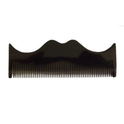 Morgan's Grey Moustache Shaped Comb