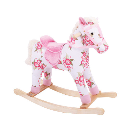 Bigjigs Toys Plush Floral Rocking Horse