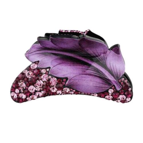 Ladies Hair Accessory Hair Clips Retro Hairpin Tuck Comb Hair Grip Leaf Purple