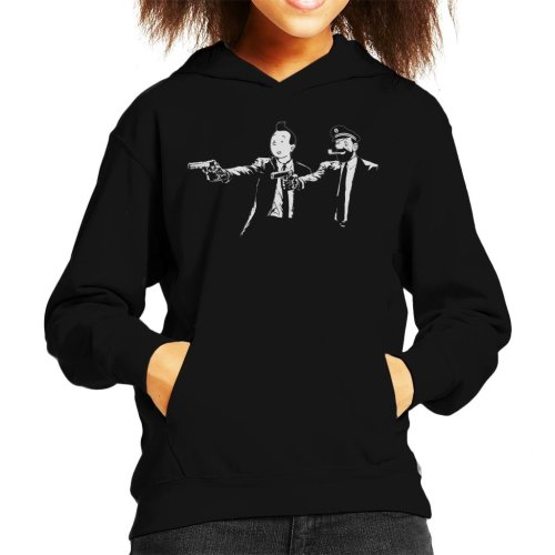 Tintin And Captain Haddock Pulp Fiction Kid's Hooded Sweatshirt