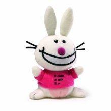 It's Happy Bunny Beanbag - 2 Cute 2 Talk 2 U