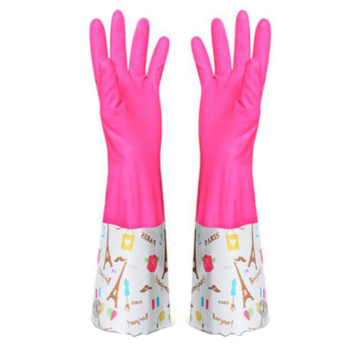 Rose Dish Washing Gloves Waterproof Gloves Cleaning Gloves