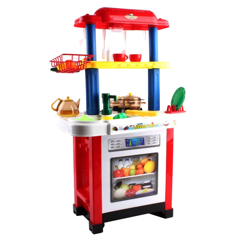 Deao toys happy little chef play set kids 39 play kitchen for Little kitchen set