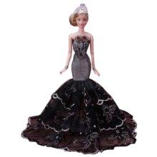 Beautiful Princess Wedding Costume Party Evening Dress Dolls Dress-up Costume Gift Idea, A