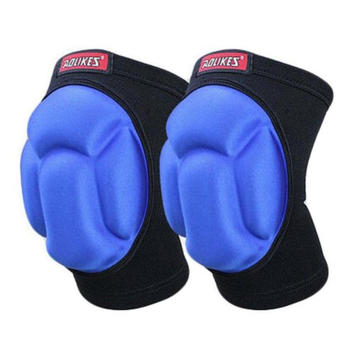 Sports Kneepads Sponge Knee Braces Knee Support, Free Size, Black and Blue