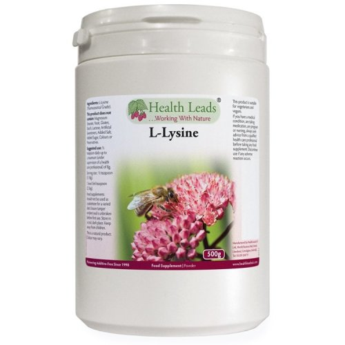 High Quality Pure L-Lysine Powder 500g Pharmaceutical Grade