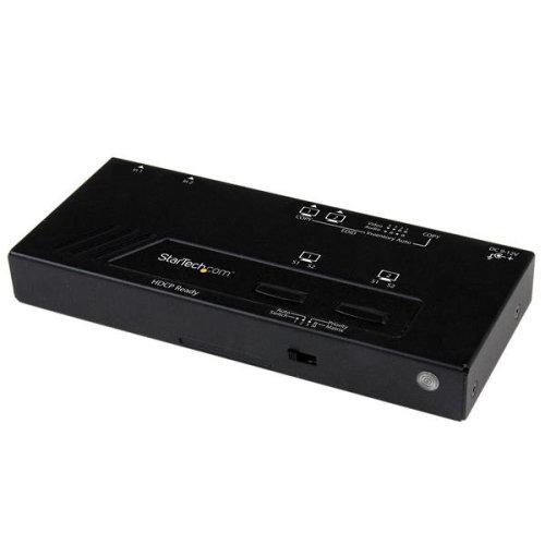 StarTech.com 2X2 HDMI Matrix Switch w/ Automatic and Priority...