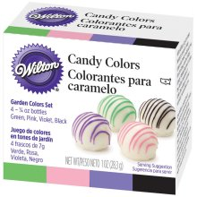 Candy Colors .25oz 4/Pkg-Pink, Green, Violet & Black