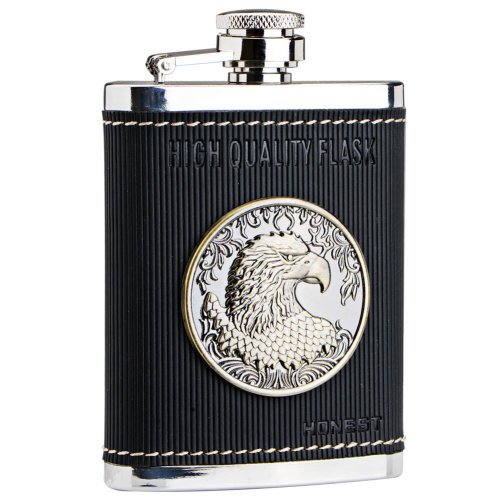 [Eagle Emblem] Creative Hiking/Camping Stainless Steel Hip Flask, 4oz