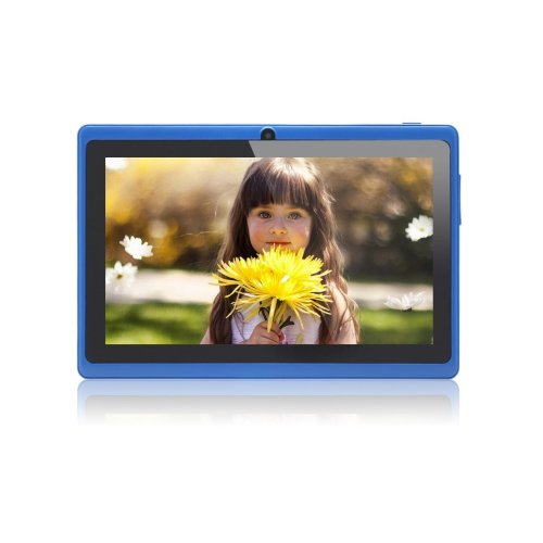 Haehne 7 Inch Android Google Tablet PC 4.2.2 Jelly Bean 8GB 512MB DDR3 A23 Dual Core Camera Capacitive Touch Screen 1.5GHz WiFi Blue