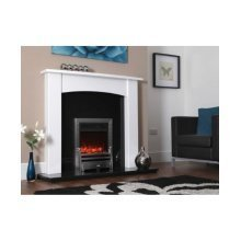 Celsi Bauhaus Hearth Mounted Silver 16""
