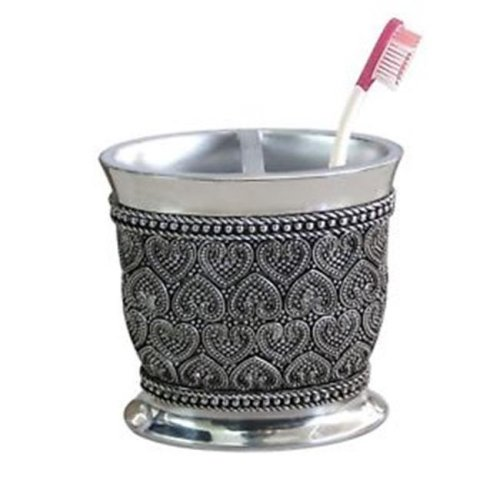 Beaded Heart Toothbrush Holder