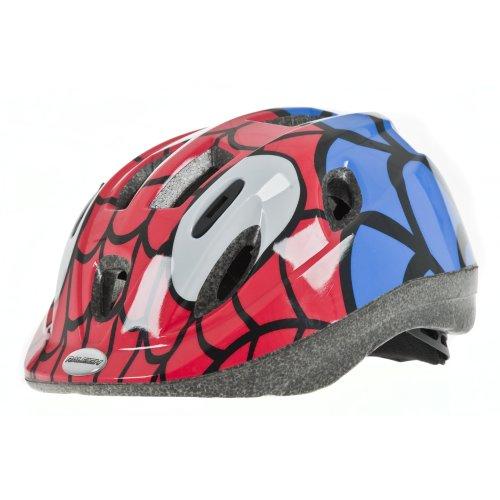 Raleigh Boy's Mystery Spiderman Cycle Helmet - Red/Blue, 48-54 cm