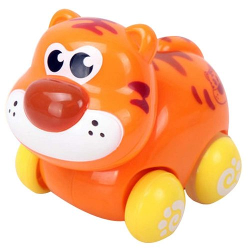 Set of 2 Wind-up Toy Tiger Car for Baby/Kids(Multicolor)