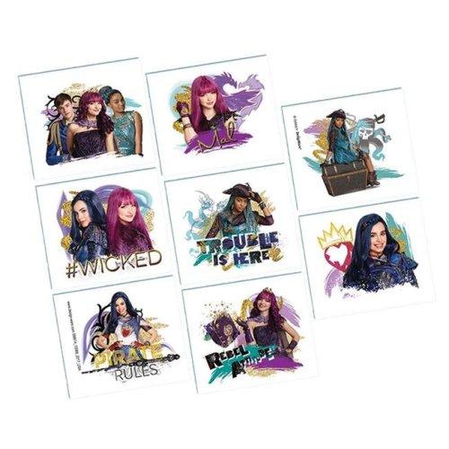 AmScan AM398614 Disney Descendants 2 Tattoos - 8 per Pack