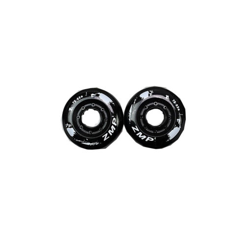 Set of 2 Roller Skate Wheels Inline Skate Wheels 76MM Black