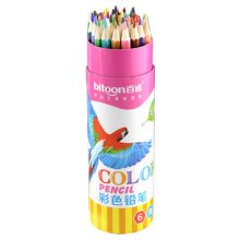 Brightly Oily Wood Colored Pencil, 36 Count, Assorted Colors
