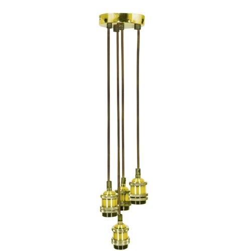 Quad E27 Pendant Cordsets - Bright Gold - 4P-E27-GLD