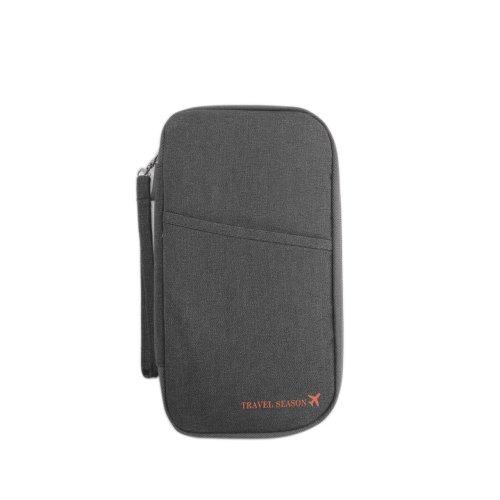 Vinsani Travel Passport and Document Holder - Grey