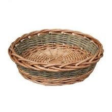 Small Unpeeled Willow Round Tray