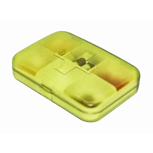Portable 6 Grids Pill Case Classical Pillbox-Green