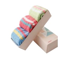 Set of 6 Fashion Fuzzy Socks Soft and Comfortable [A]