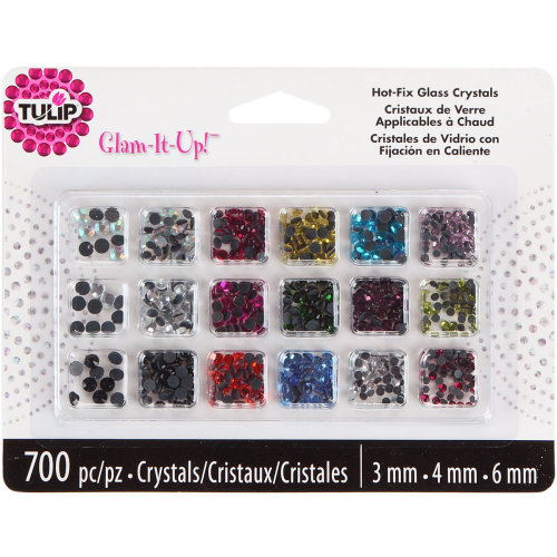 Tulip Glam-It-Up! Hot-Fix Glass Crystals 700/Pkg-Assorted Colors