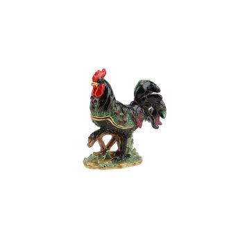CGB Giftware Ornate Jewelled Cockerel Trinket Box