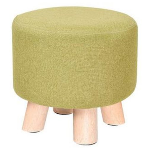Creative Wood Linen for Shoe Stool Household Stool Round stool Children Adults Apply, Green