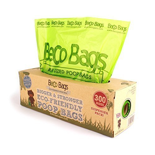 Beco Bags - 300 Large Unscented Poop Bags For Dogs - Single Dispenser - - Dog -  bags beco 300 dispenser poop dog large pack dogs single