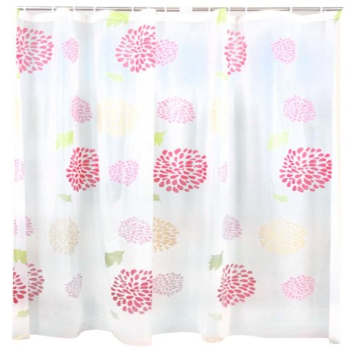 Colorful Bathroom Shower Thick Waterproof Flower Curtain(Multicolor)