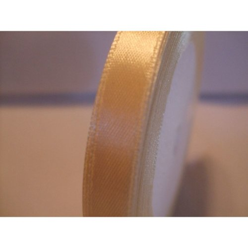 Satin Ribbon Roll - 10mm Wide - 25 Yards (22 Metres) - Pale Yellow