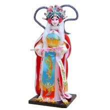 Traditional Chinese Doll Peking Opera Performer - Wang Zhao Jun
