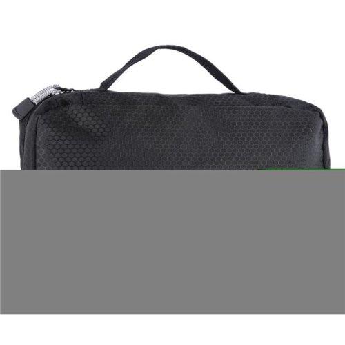 Hanging Toiletry Bag Compact Travel Kit Organizer for Men & Women - Black