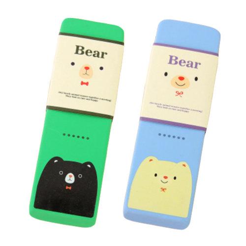 Lovely Soft Eraser, Extra Large Rubber Eraser, Set Of 2, Green & Blue