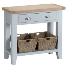 Suffolk Grey Painted Oak Console Table